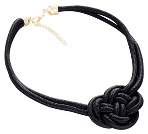 Other BRAND NEW Black Nautical Rope Style Knot Bib Necklace