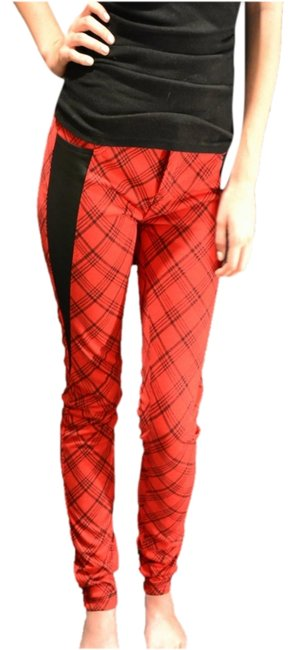 Tinseltown Sz5 Punkrock Lowrise Skinny Pants Red Plaid