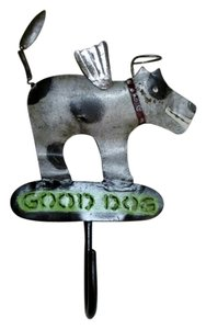 Dog w/ Angel Wings & Halo - Handmade - Metal Wall Hook / Key Hook / Dog Leash Hook / Wall Hook