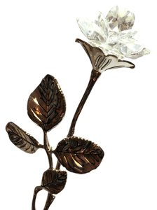 Other Silver Plated Crystal Rose by Godinger Silver Company [ Roxanne Anjou Closet ]