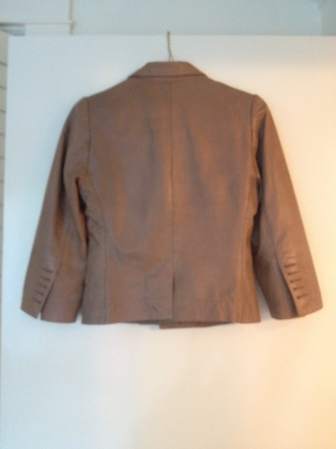 Zadig & Voltaire Chic Versatile Lamb Leather Leather Spring Fall Soft Tan Leather Jacket