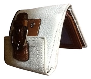 Coach White pebble grain leather wallet