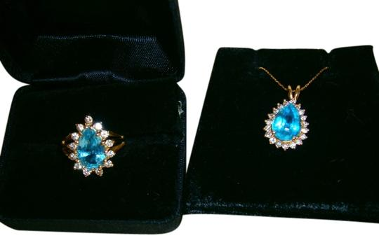 Preload https://img-static.tradesy.com/item/519126/blue-and-necklace-genuine-topaz-and-diamond-set-in-14k-solid-gold-ring-0-0-540-540.jpg