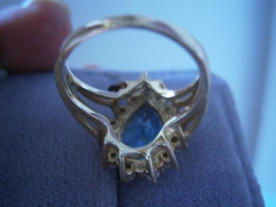 Other Ring & Necklace Genuine Blue Topaz & Diamond set in 14k solid gold