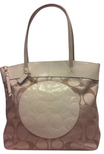 Coach Medallion Patent Leather Tote in Khaki