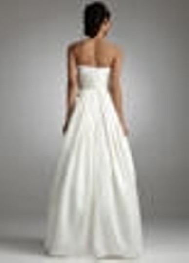 David's Bridal White Satin Style # Ej1m0143 Modern Wedding Dress Size 2 (XS)