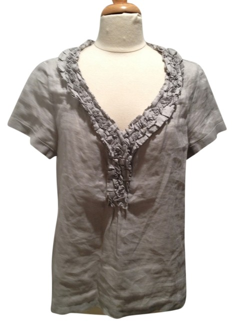 Preload https://item3.tradesy.com/images/talbots-gray-sleeve-linen-with-appliques-tee-shirt-size-12-l-5191882-0-0.jpg?width=400&height=650