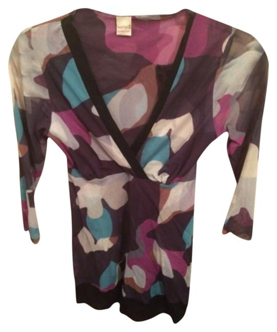 Sweet Pea by Stacy Frati Top Multicolor, teal, lilac, black