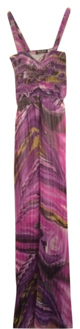 Purple, black, gold Maxi Dress by Mia Mia