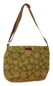 Bungalow 360 Green, white, brown Messenger Bag
