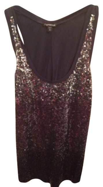 Preload https://item2.tradesy.com/images/express-navy-irridescent-sequin-tank-topcami-size-10-m-5192521-0-0.jpg?width=400&height=650
