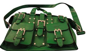 Matt and Nat Vegan Leather Satchel in Green
