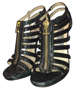 Jimmy Choo Dark Green Platforms