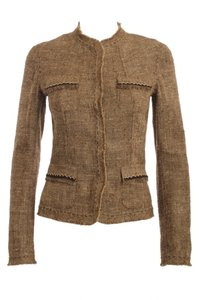 Elie Tahari Tweed BROWN Blazer