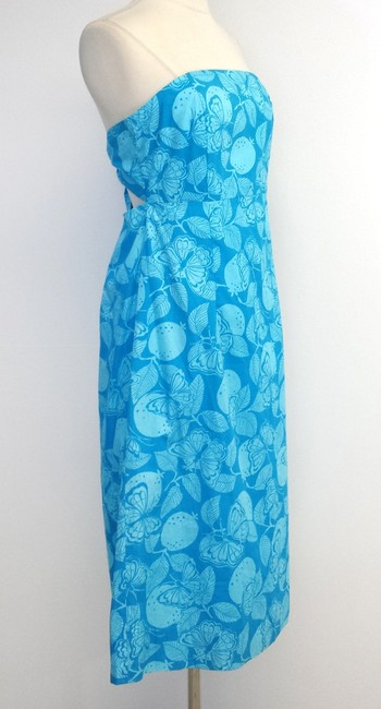 Lilly Pulitzer short dress Butterfly Print Cotton Strapless on Tradesy
