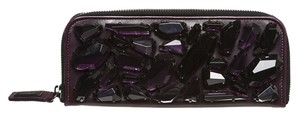 Burberry Zip Around Jewel Purple Clutch