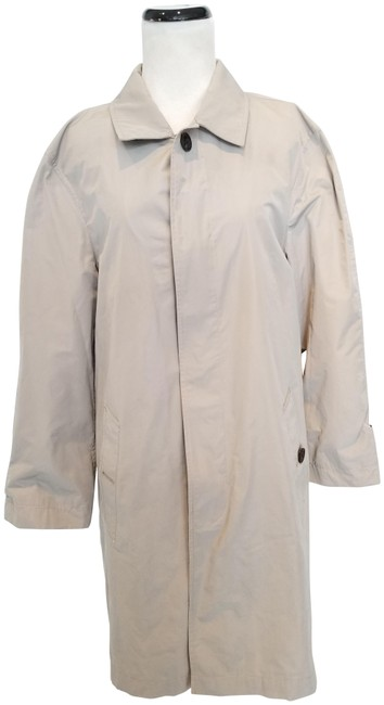 Item - Khaki Single-breasted Rain Coat Size 8 (M)