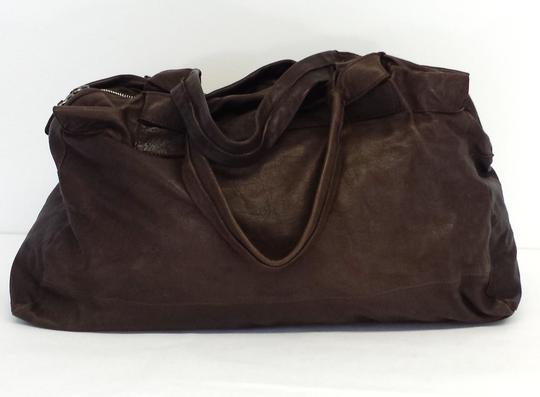 Sissi Rossi Pebbled Leather Duffle Duffle Hobo Bag
