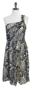 J.Crew short dress Print Silk One Shoulder on Tradesy