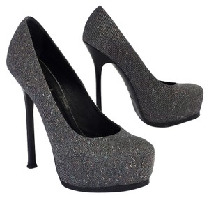 Saint Laurent Tweed Tribtoo Pumps