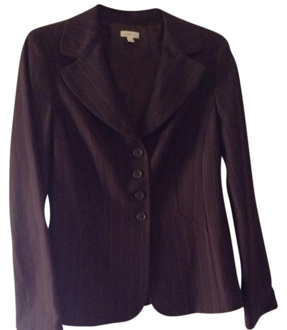 Semantiks Brown With Blue Pinstripe Blazer