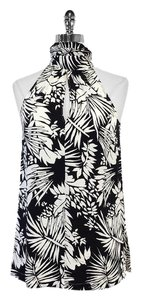 Max Mara Fern Print Silk Top
