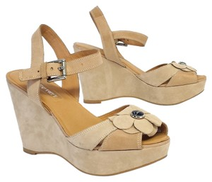Coach Suede Platform Wedges