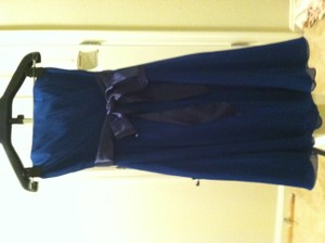 Wtoo Cobalt Dress With Navy Ribbon Wtoo Syle #611 Dress