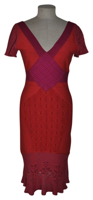 Preload https://item3.tradesy.com/images/zac-posen-multi-color-crochet-knit-bodycon-bandage-cocktail-mid-length-night-out-dress-size-12-l-519547-0-0.jpg?width=400&height=650