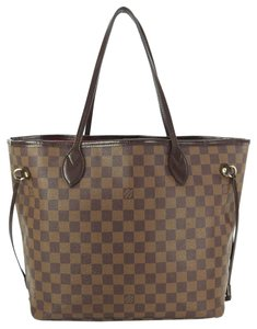 Louis Vuitton Neverfull Mm Damier Ebene Tote in Browns