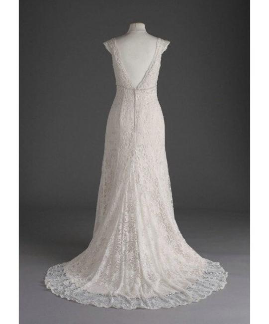 Item - Ivory Lace T9612 Vintage Wedding Dress Size 8 (M)