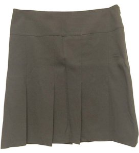 Burberry London Pleated Wool Mini Skirt Black