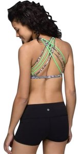 Lululemon Born to be Wild Sport Bra in White Multi Pistachio size 4