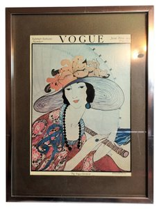 Other Vogue Vintage Framed Print; June 1, 1919 (Artist: Helen Dryden, Printed & Framed; 1975) [ Roxanne Anjou Closet ]