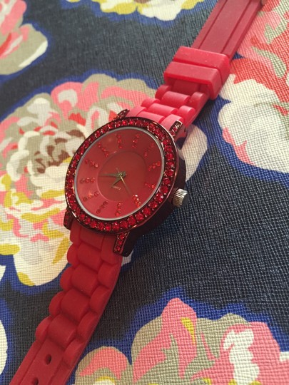 Other Red Quartz Rubber Watch
