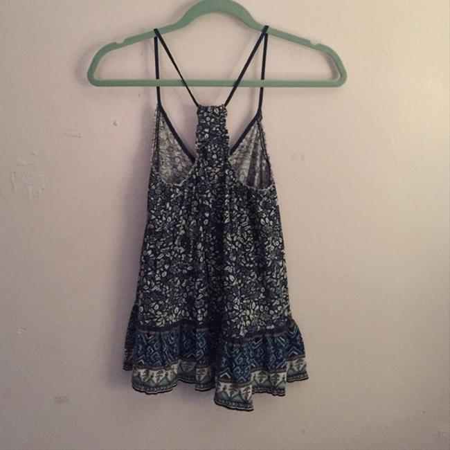 American Eagle Outfitters Top Blue, white, printed