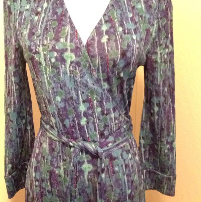 Diane von Furstenberg short dress Multi shades of blue and green on Tradesy