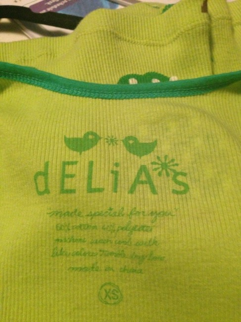 dELiA*s Top Green / Black