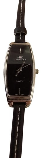 Denacci Black leather and stainless steel