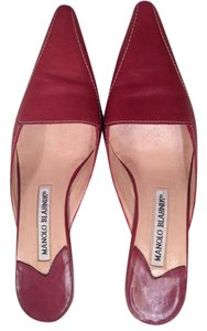 Manolo Blahnik Red Mules