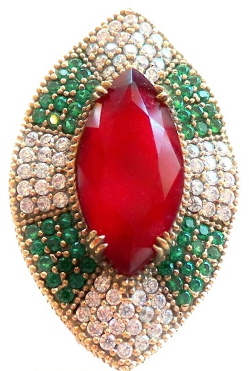 Preload https://item2.tradesy.com/images/other-stunning-large-natural-ruby-emerald-and-white-topaz-sterling-silver-ring-85-5198581-0-0.jpg?width=440&height=440