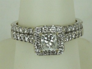 Helzberg Diamonds Helzberg Diamond 18k White Gold Band 1/2 Ct. Princess Cut Diamond Flawless