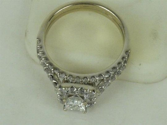 Helzberg Diamonds Color H Clarity:vs1 18k White Gold Band 1/2 Ct. Princess Cut Flawless Engagement Rings