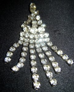 Kendell & Marcus Vintage Kendell & Marcus Cascading Rhinestone Brooch/ 1950's/Signed