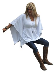 Lirome Boho Crochet Embroidered Beach Casual Tunic