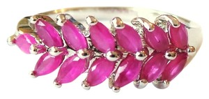 Other Natural Ruby 925 Sterling Silver Anniversray Band 8