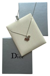 Dior CD Christian Dior Heart Initial Necklace
