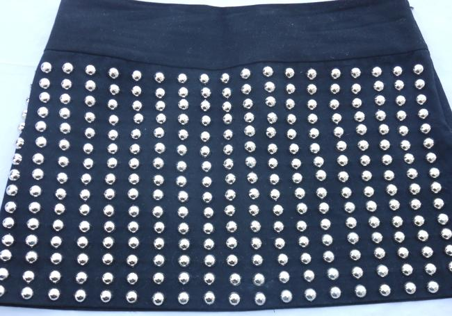 Candies Studded Skirt Micro Mini Designer Skirt Black with Studs