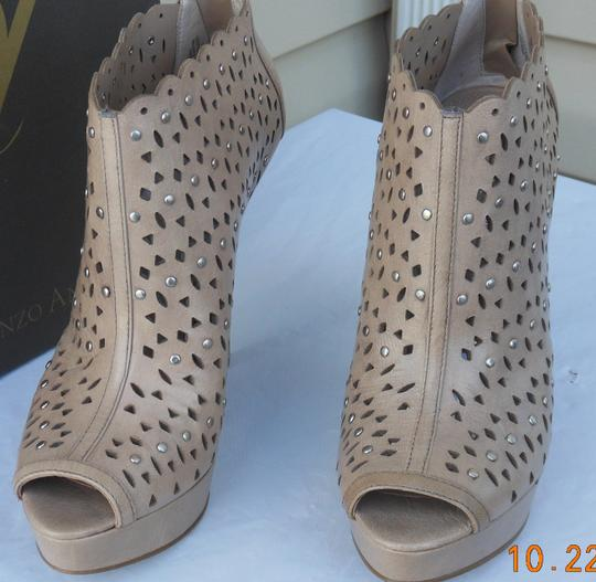Enzo Angiolini Stiletto Studs Pumps Platform Nude Boots