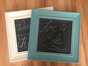 Set Of 3 Chalkboard Frame